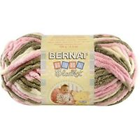 Bernat Small Polyester Baby Blanket Ball Of Yarn, Little Petunias - Yarn