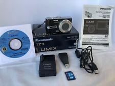 Panasonic LUMIX DMC-TZ3 7.2MP Digital Camera - Black Silver 10x optical zoom
