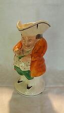 Staffordshire Vintage Victorien Antique Orange Veste Snuff Taker TOBY JUG