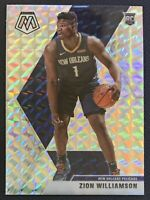 2019-20 Panini Mosaic NBA Zion Williamson Rookie RC #209 Silver Mosaic Prizm SP