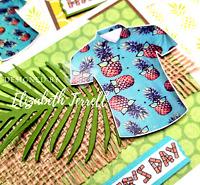 Stampin Up Card Kit Hawaiian Shirt Happy Father's Day Birthday Retirement Luau