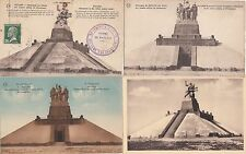 Lot 4 cartes postales anciennes GUERRE 14-18 WW1 MARNE NAVARIN monument morts 3