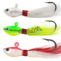 Dr.Fish Bucktail Jigs 1/2,1,2oz Saltwater Lures Lot 3