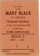 Mary Black - ORIGINAL Concert Ticket - National Stadium, Dublin - 8th Sept,1989