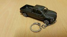 Diecast Chevrolet Silverado Grey Toy Car Keyring Keychain NEW
