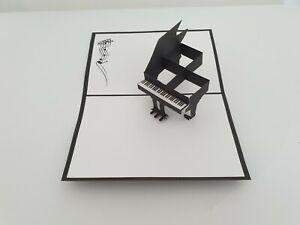3d Popup Piano Card