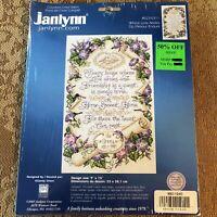 Janlynn WHERE LOVE ABIDES 14 Count Aida Fabric Cross Stitch Kit 9 x 15
