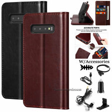 For Samsung Galaxy S10 Plus S10E Leather Flip Card Holder Case Cover Accessories
