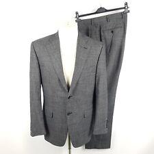 Canali 1934 Anzug Herren Gr. 50 Regular Drop 7 Grau Wolle Stretch Current Suit
