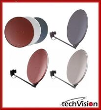 Gibertini Aluminium Satellite Antenna dish Ø 85 Cm Anthracite, Light Gray or