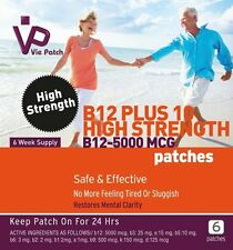 Vie Patch Vitamin B12 Plus10, High Strength Patches 5000Mcg 100% Natural 42 days