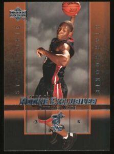 2003-04 UD Rookie Exclusives #5 Dwyane Wade Miami Heat RC