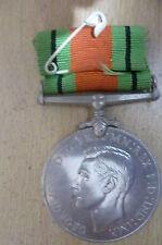 Medal-1939-1945 THE DEFENCE MEDAL:GEORGIVS VI D, G. BR: OMN. REX F:D:IND:IMP WW2