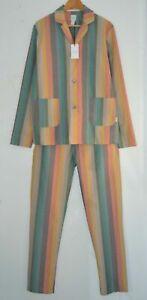 PAUL SMITH mens striped cotton pyjamas PJs Artist Stripe SMALL
