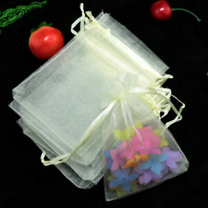50pcs 24 Colors Organza BagsJewelry Packaging Bags Wedding Gift Storage Pouches