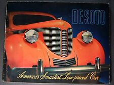 1938 DeSoto Large 20pg Catalog Sales Brochure Excellent Original 38