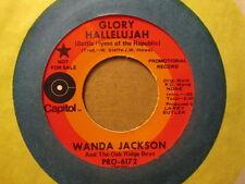 WANDA JACKSON & Oak Ridge Boys - Glory Hallelujah    CAPITOL PRO-6172 - 45rpm