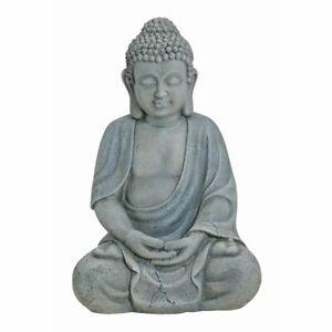 Buddha Figur sitzend Skulptur Gartenfigur Buddhafigur Meditation Feng Shui 29 cm