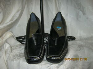 What's What Women Black Leather Heels 6
