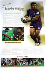 For the Love of the Game - Andrew Johns Hand Signed Newcastle Knights Lithograph