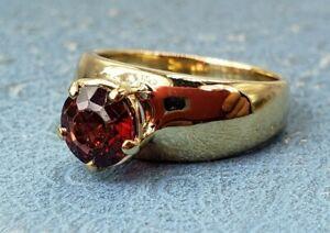 James Avery Retired 14k 1.5ct Garnet Ring Sz7.5 vintage style