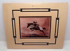 Marguerite Fields 1987 Print Leap into Battle Matted Horse