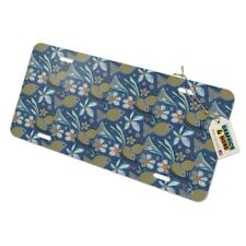 Little Happy Pond Gold Fishes Pattern Novelty Metal Vanity Tag License Plate