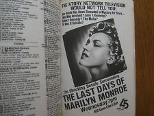 Aug. 1,1987 TV Guide(MARILYN MONROE/DEBORAH NORVILLE/ERIC BRAEDEN/FINOLA HUGHES