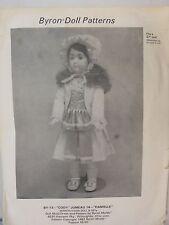 """Byron Doll Pattern Instructions 27"""" By-13 Cody Jumeau 14 Danielle Cut 1982"""