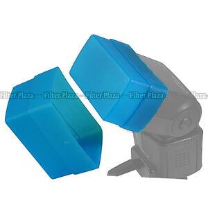 Flash Bounce Softbox Diffuser Cap for Canon Speedlite 420EX Blue