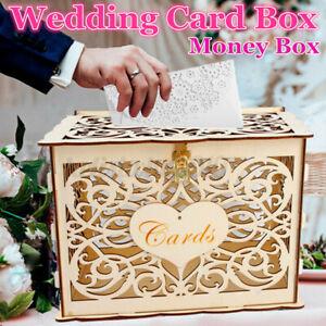 Holz Kartenbox Hochzeit Glückwunschkartenbox Geschenkkartenbox Briefbox Geldbox