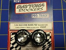 Pro Track #426T Stockers 27mm 18mm Silicone Tires 5-40 Threaded axle Mid America