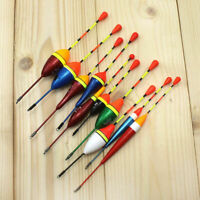 10 Pcs Long Tail Fishing Throw Floats Mix Size Floating Bobbers Set For Fishing