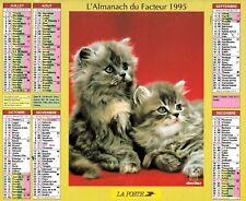 CALENDRIER DES POSTES. ALMANACH DU FACTEUR. ORIGINAL  1995 . LA POSTE .Oberthur