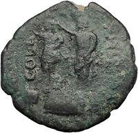 TRAJAN Macedonia Philippi UNPUBLISHED Julius Caesar Augustus Roman Coin i55290