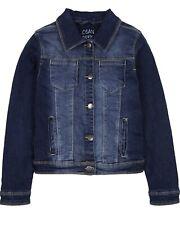 LOSAN Junior Girl's Classic Dark Blue Denim Jacket, Sizes 8-16