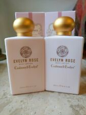 Crabtree & Evelyn Evelyn Rose Body Lotion 8.5 ox  2x NEW Free Shipping