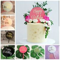Decoration Baby Shower Happy Birthday Cake Topper Acrylic Decor Party Supplies~