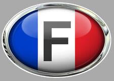 """Sticker """" F """" FRANCE pour auto  120mm x 85mm"""