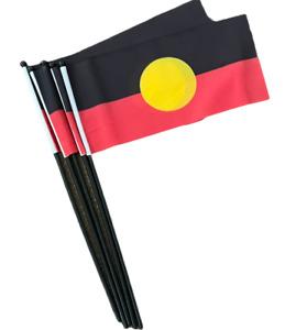 5 - Aboriginal Flag Hand waver Licensed Aboriginal Flags