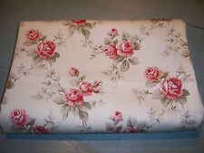 Waverly Tablecloth TEA ROSE Pink Sage Ivory Shabby Roses Cottage Chic100%Cotton