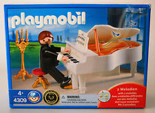 NEW Playmobil 4309 ~ White Grand Piano w/ Pianist ~ Victorian Dollhouse Wedding