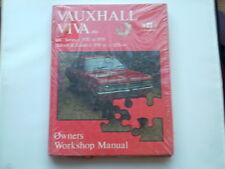 VAUXHALL VIVA HC 1159cc 1256cc 1970-79 genuine GM Euroservice Manual NOS