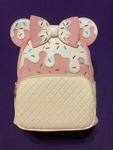 Pink a La Mode Exclusive Strawberry Sundae Loungefly Minnie Mouse Mini Backpack