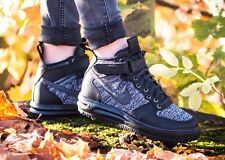 Nike Lunar Force 1 Flyknit Workboot Black White Oreo Uk Size 5.5 860558-001