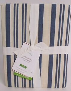 NWT Pottery Barn Antique Stripe shower curtain, blue, *on hand now*