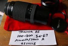 Tokina AF 100-300mm F/5.6-6.7 Lens for Minolta A / Sony Alpha - SLIGHT FUNGUS