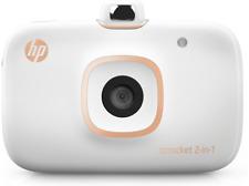 Impresora fotográfica - HP Sprocket 2 en 1, Cámara, Compacta, Bluetooth,