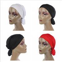 Women Turban Cap Hijab Muslim Inner Cover Wrap Head Hat Chemo Headwear Hats Caps