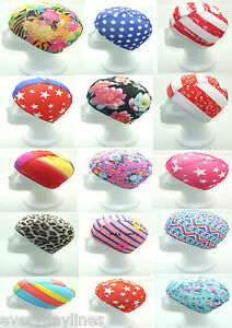 Novelty Stretched Fabric Swimming Cap - Shower Cap - One Size Choose Your Style
